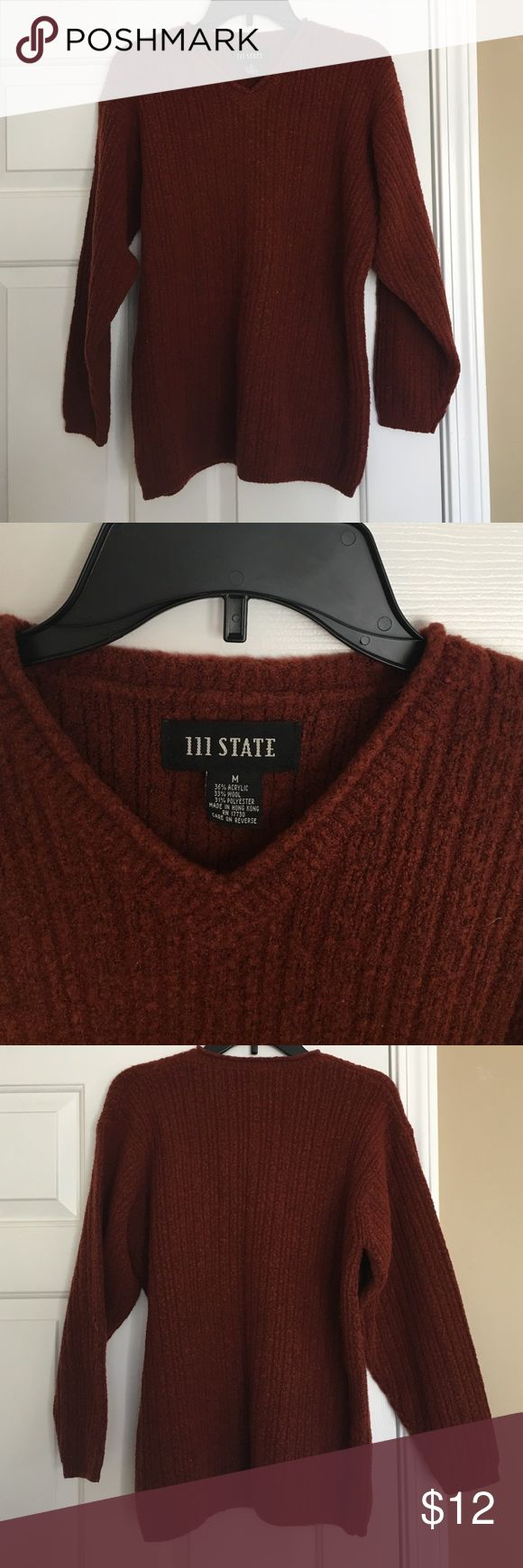 Big comfy fall sweater Vintage sweater! Burnt orange/burgundy color. Thick enough to keep you warm & perfect for fall! 111 State Sweaters