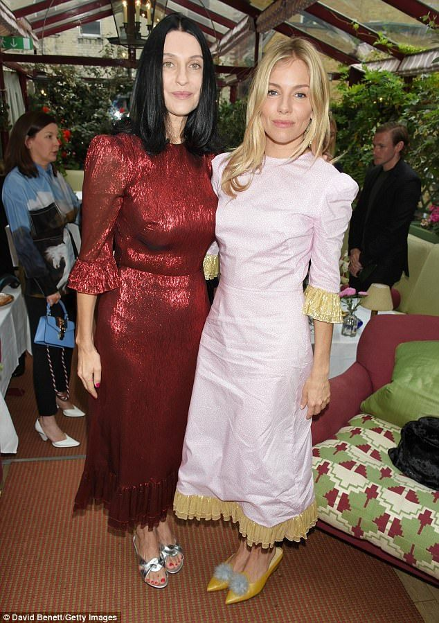 Sienna Miller and Salma Hayek support Aids charity | Daily Mail Online