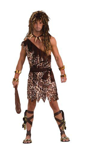 Men's Stone Age Style Cave Stud Costume, Animal Print, One Size - Forum Novelties Cave Stud Costume is  also a great pick if your going for Tarzan  or any jungle man costume as well. Prowl the parties for the ladies of your choice. Costume contains tunic and belt. A... - Men - Apparel - $11.80