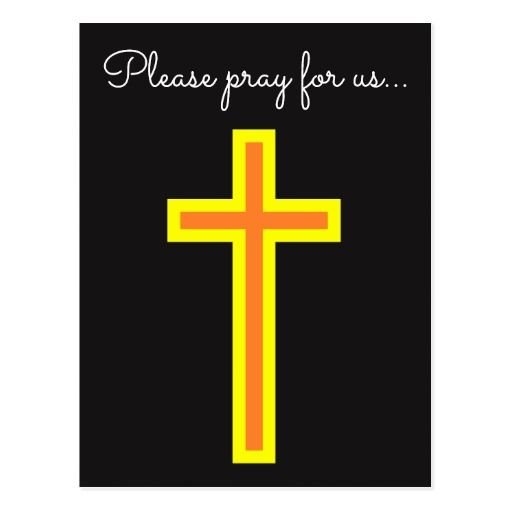 Prayer Request + Orange and Yellow Christian Cross