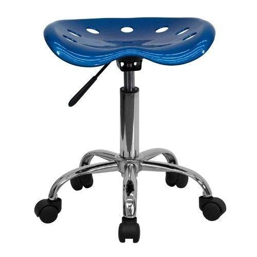Tractor Seat Stool Adjustable Office Furniture Garage Work Chair Wheels BLUE New #FlashFurniture1