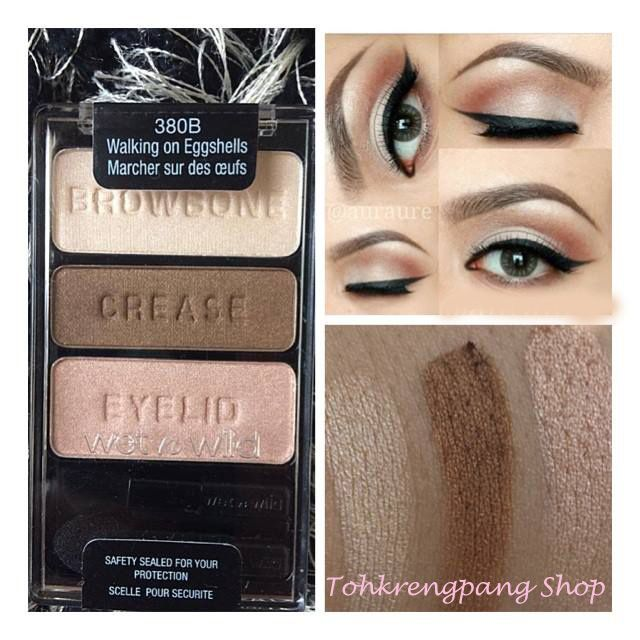 "wet n wild's ""Walking on Eggshells"" trio: all you need for a beautiful neutral eye."