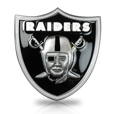 Nfl Oakland Raiders 3d Logo Metal Trailer Tow Hitch Cover