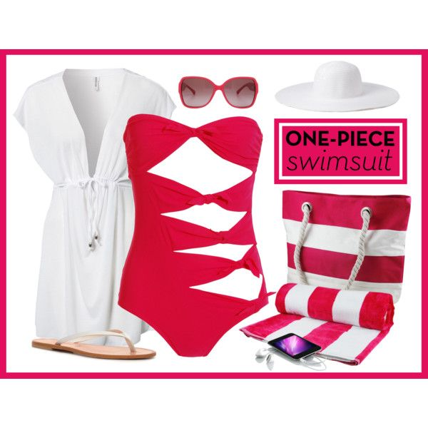 Pink One-Piece, created by maggie478 on Polyvore