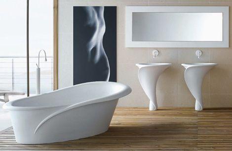 Calla Lily inspired Italian Bathroom Suite from Mastella,designed by architect Oriano Favaretto.