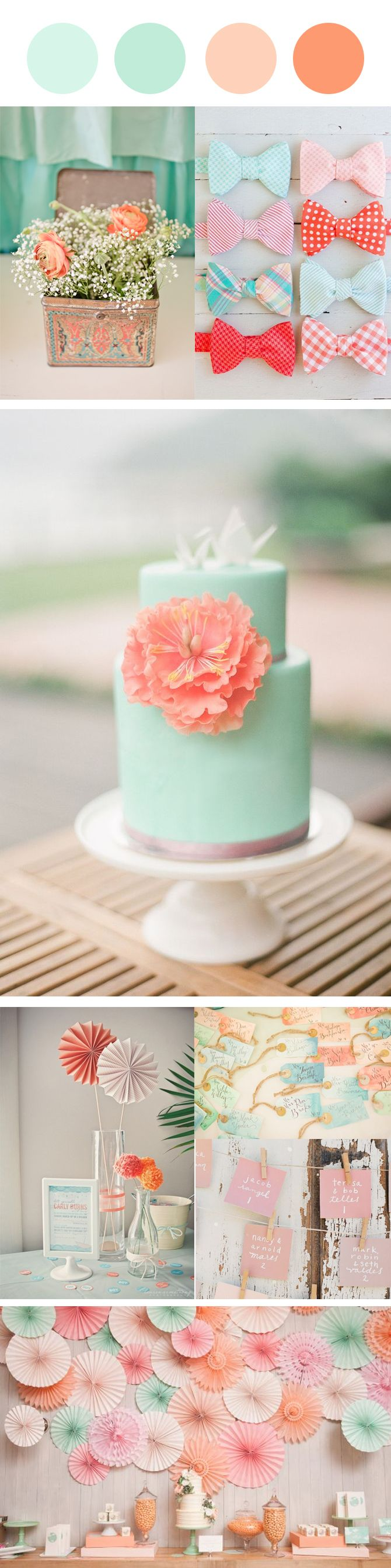 Nice Party: Paleta de color para tu fiesta. Melocotón y agua