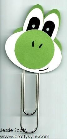 Stampin' Up! Punch Art Mario Bros - Yoshi by cards by Kylie-Jo - Cards and Paper Crafts at Splitcoaststampers