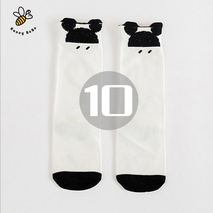 Girls Socks , cotton Knee High Long