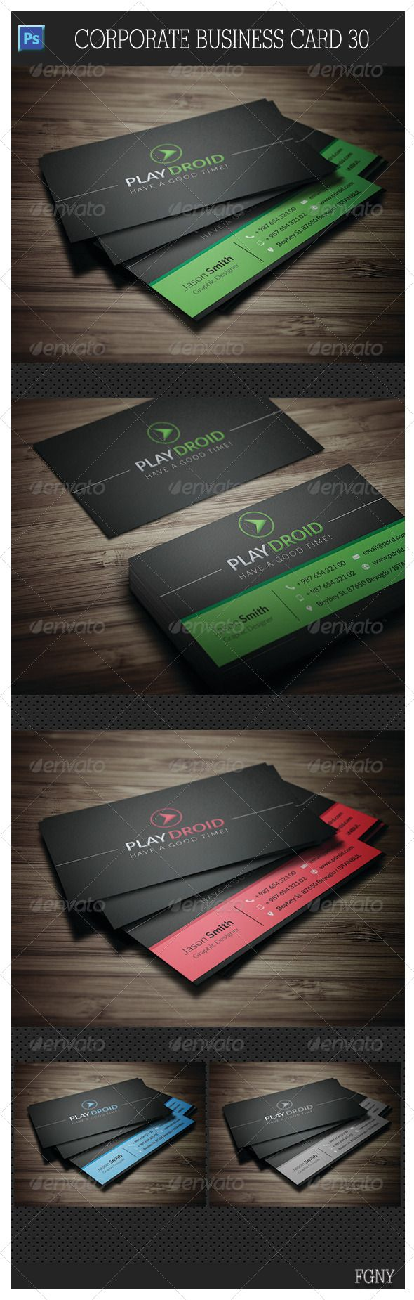 Corporate Business Card 30 - #Corporate #Business #Cards Download here: https://graphicriver.net/item/corporate-business-card-30/5841909?ref=alena994