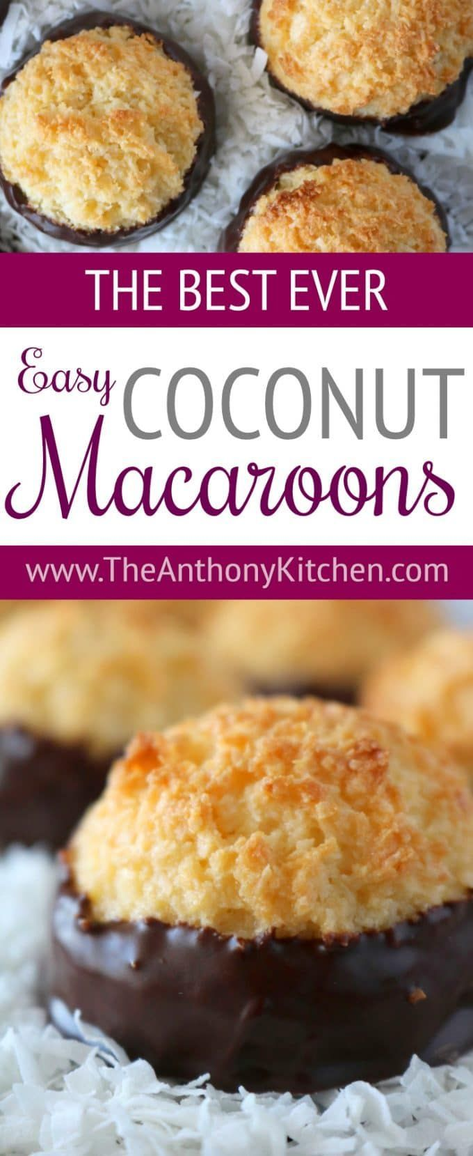 Chocolate Coconut Macaroons Recipe The Anthony Kitchen Recipe Macaroon Recipes Coconut Macaroons Easy Coconut Macaroons Recipe