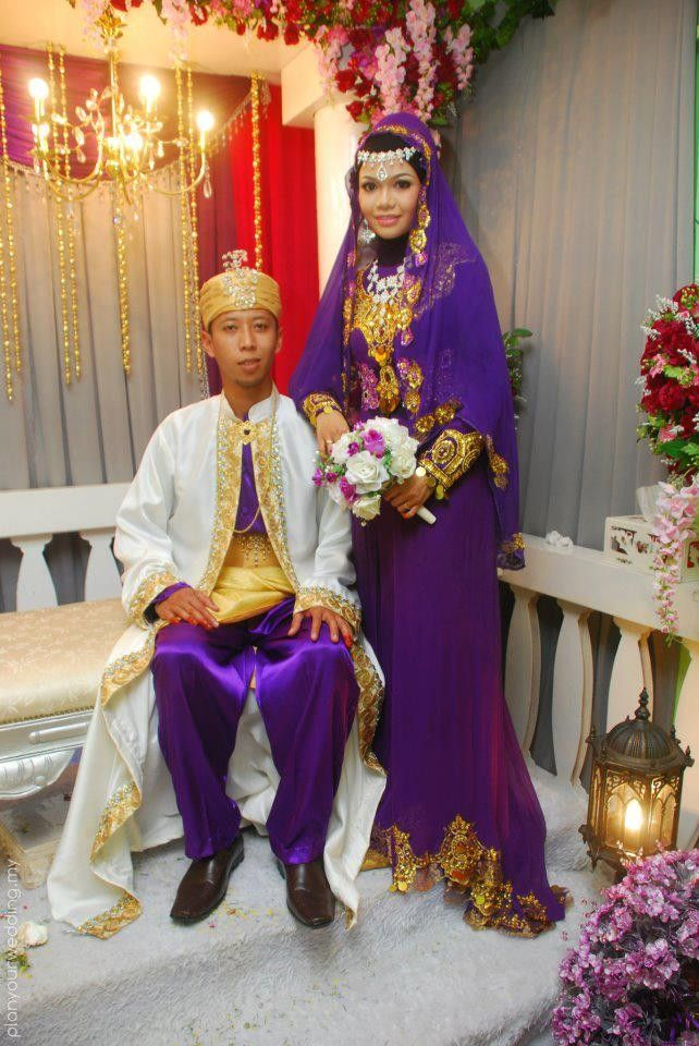 Malay Traditional Wedding Reception Looking Just Like A King And Queen