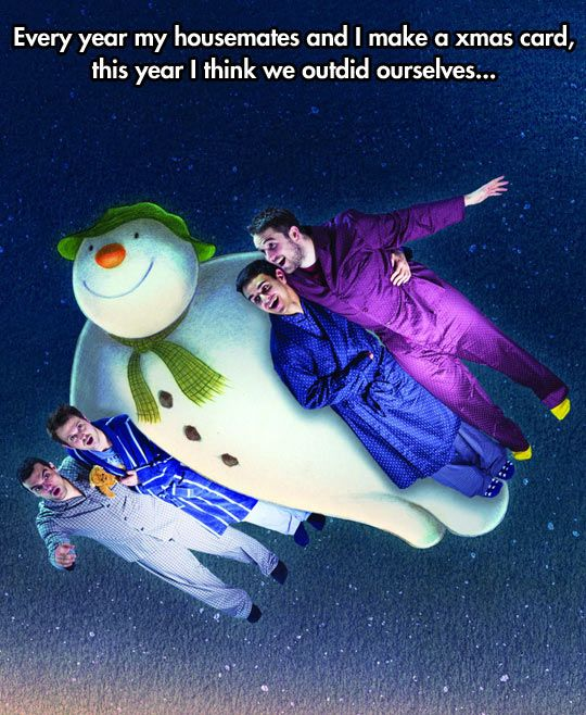 funny-Christmas-card-roommates-snowman
