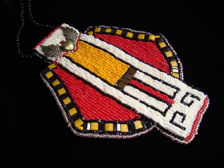Adela Petcu_ ArtDeco pandantif in embroidering.