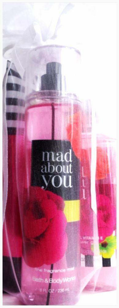 Bath & Body Works Mad About You Gift Set of 3 Body Cream, Mist, Bath Gel #BathBodyWorks