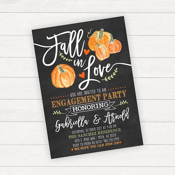 Halloween Engagement Party Invitation Fall Engagement