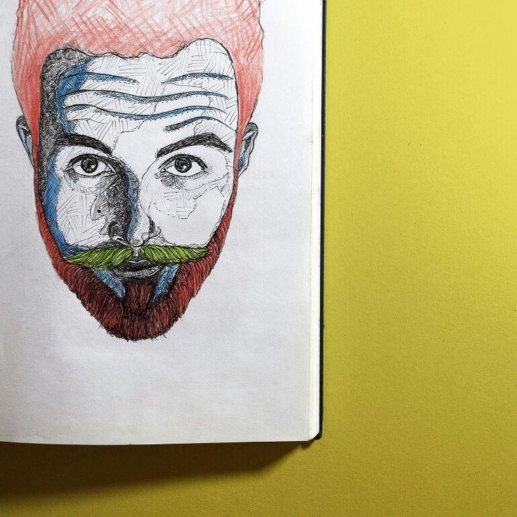 sketch of a friend of mine samuele by @noisemountain