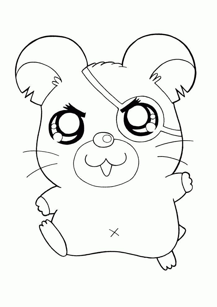 Cute Hamster Printable Coloring Pages Cute Coloring Pages Animal Coloring Pages Coloring Pages