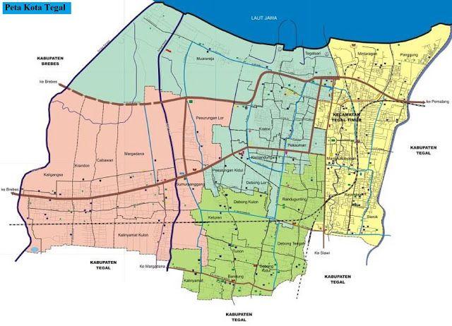 Peta Kota Tegal   Peta