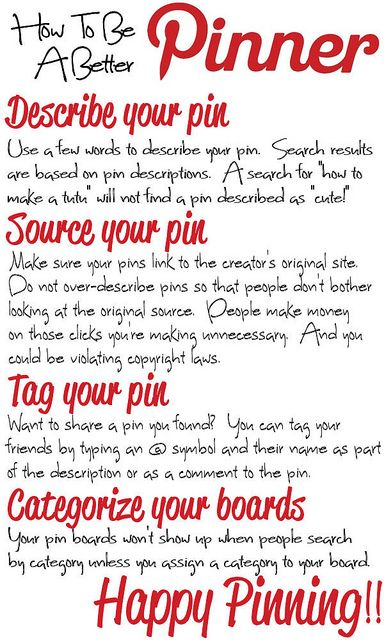How To Be A Better Pinner #Pinterest