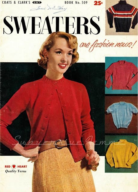 Subversive Femme: By Request - Classic Sweater Set from 'Sweaters are Fashion News', c.1955