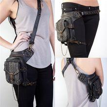 Steampunk bolsa Steam Punk Retro Rock gótica Goth de la cintura del hombro bolsas de paquetes de estilo victoriano para mujeres hombres + muslo de la pierna funda bolsa(China (Mainland))
