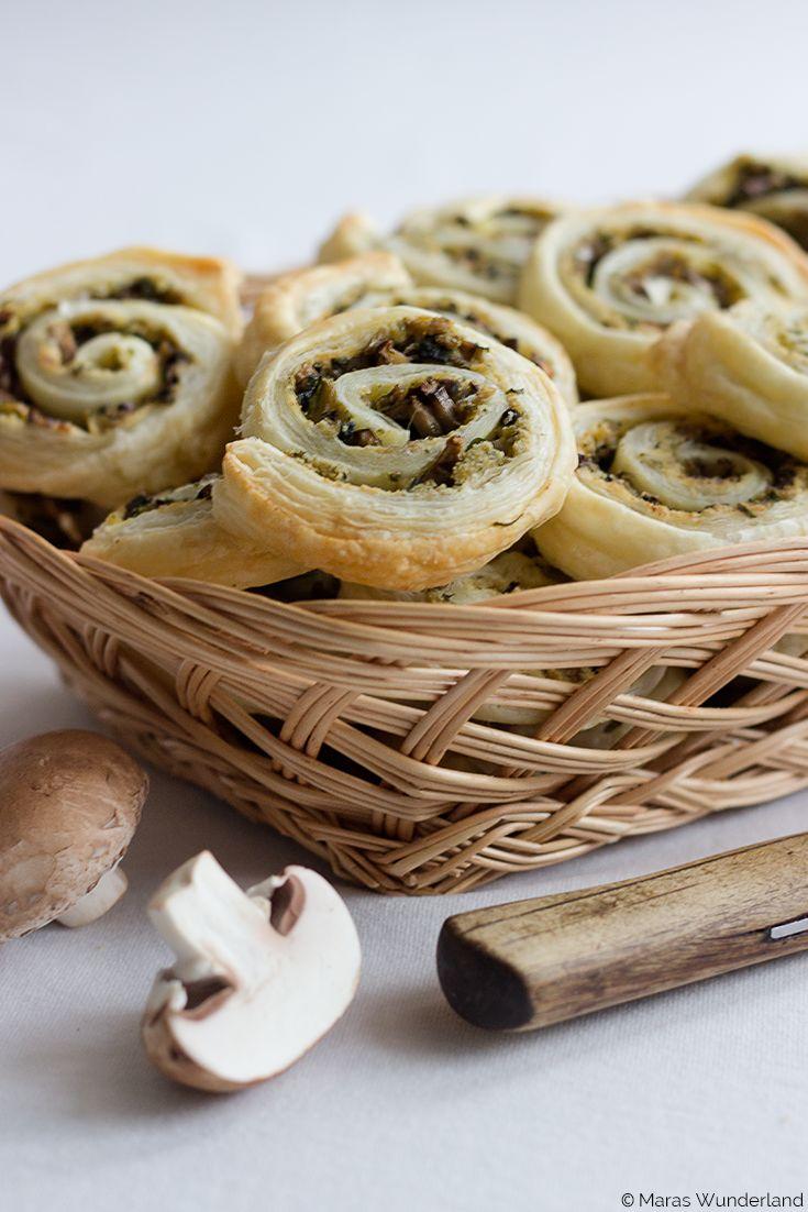 #Partyfood: Pilz-Zucchini-Blätterteigschnecken