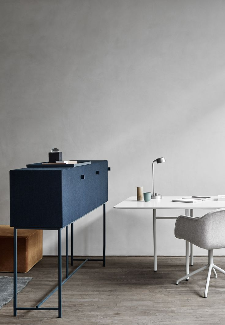 Danish studio Norm Architects' collection of Tone Cabinets is designed to dampen noise in the home as well as the office.