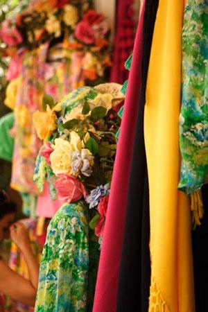 I tessuti e i colori della costiera amalfitana