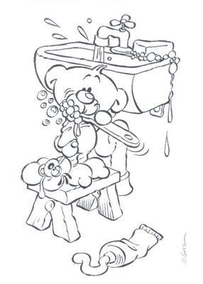 Pimboli se brosse les dents