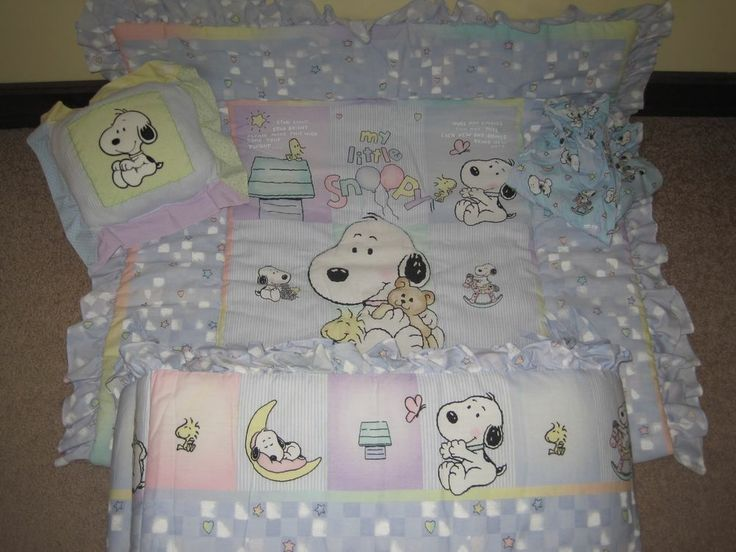 My Baby Snoopy Nursery Bedding Huge 14 Pc Set Excellent