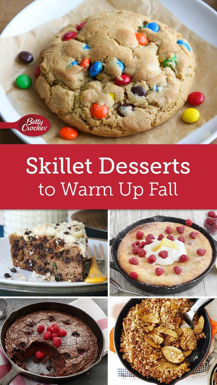 Your trusty cast-iron skillet makes it super simple to bake up a sweet treat on a weeknight.