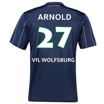VfL Wolfsburg Third Shirt 2016-17 with Arnold 27 printing, Navy: with Arnold 27 printing #Sport #Football #Rugby #IceHockey