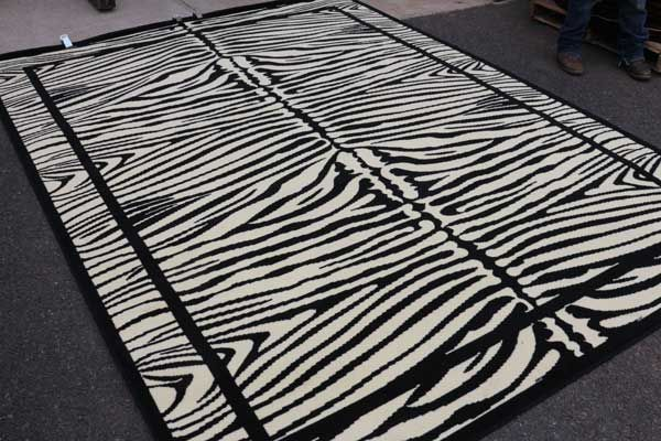 Discount Rugs | Cheap Area Rug | Black and White Rugs 5x8 |Zebra Rug 8x10