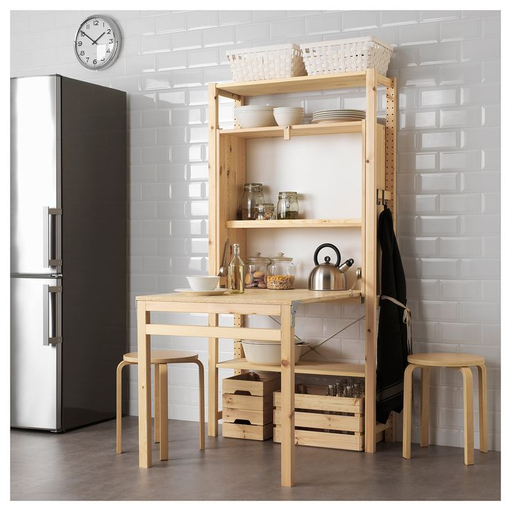 IVAR Storage unit with foldable table – IKEA