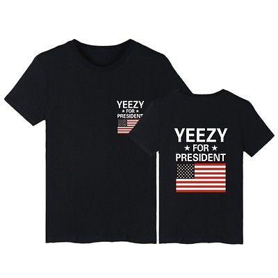 Neu Herren Kanye West Yeezus Top Yeezy for President T-Shirt Tee Shirt Unisex