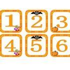 "October Number Calendar Cover ups & October Calendar Label  Numbers are approx 2.75"" X 2.75""  October calender label approx 10"" x 2.75""..."