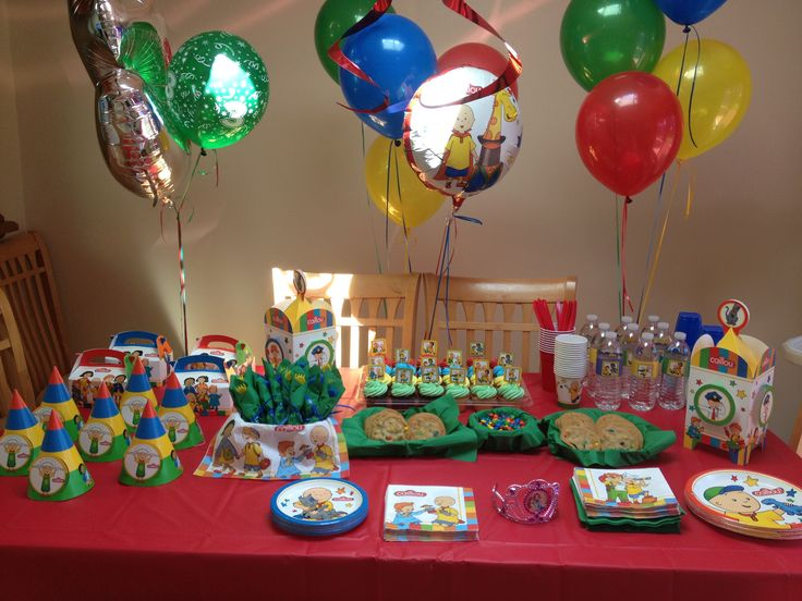 76 best Caillou Birthday images on Pinterest Birthday party ideas
