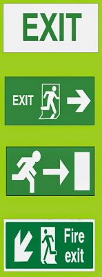 WAZIPOINT Engineering Science & Technology Blog: Format of Emergency Exit Signs