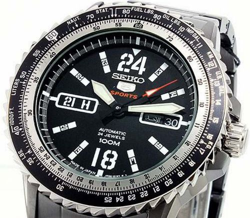 Seiko 5 Sports Mens Automatic 100m Pilots Watch SRP355J1 - In Stock, Free Next Day Delivery, Our Price: £204.99, Buy Online Now