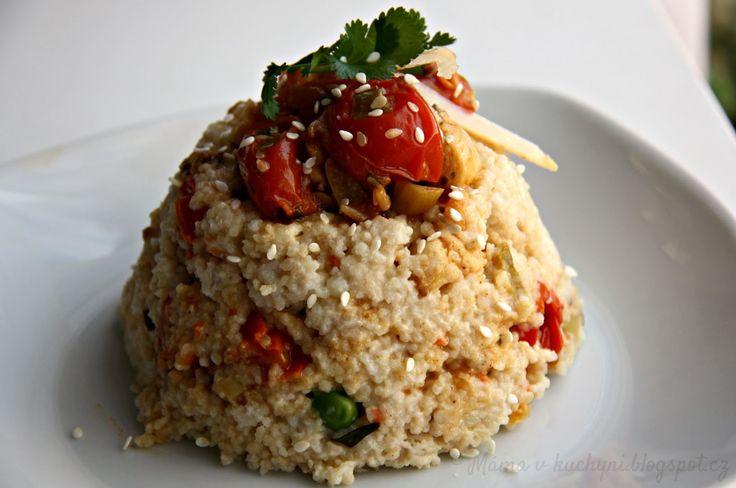 ♥ Máma v kuchyni ♥: Kuskus s rajčaty a kuřecím masem (od 1 roku)