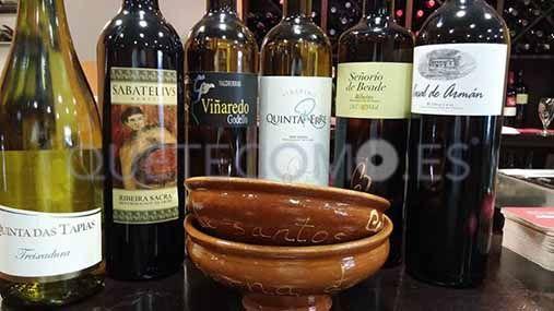 Vinos gallegos | Restaurante tapería Taberna de Santos en A Coruña