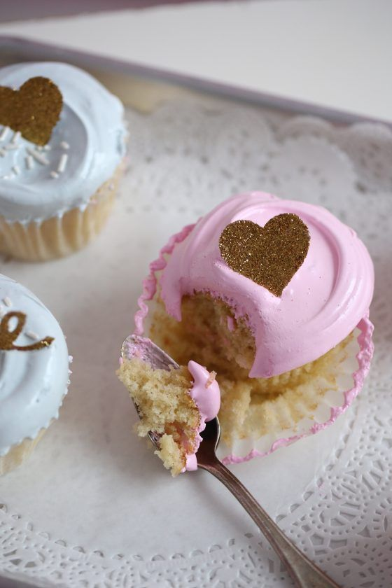 My favorite cupcakes are these delicious moist vanilla cupcakes, topped with a delicious angel feather icing. So smooth and so delicious and perfect t