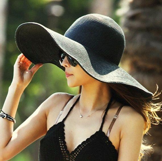 Sombrero de playa de verano grande 24 pulgadas  15 colores