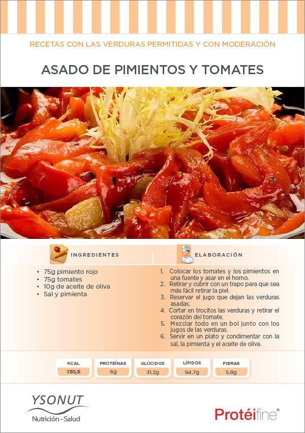 """Nada ni nadie te hará saltarte la dieta… para la hora del aperitivo comparte un Asado de Pimientos y Tomates. ¡Sólo 130 Kcal! Disfrutar mientras pierdo peso merece un """"Pin it"""" ;)"""