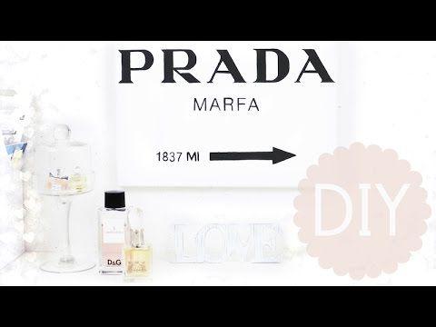 Gossip Girl - Prada Marfa Bild DIY   #ViktoriaSarinaDIY - YouTube