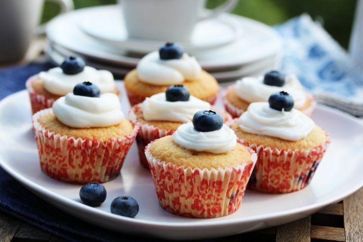 Blåbærmuffins med topping