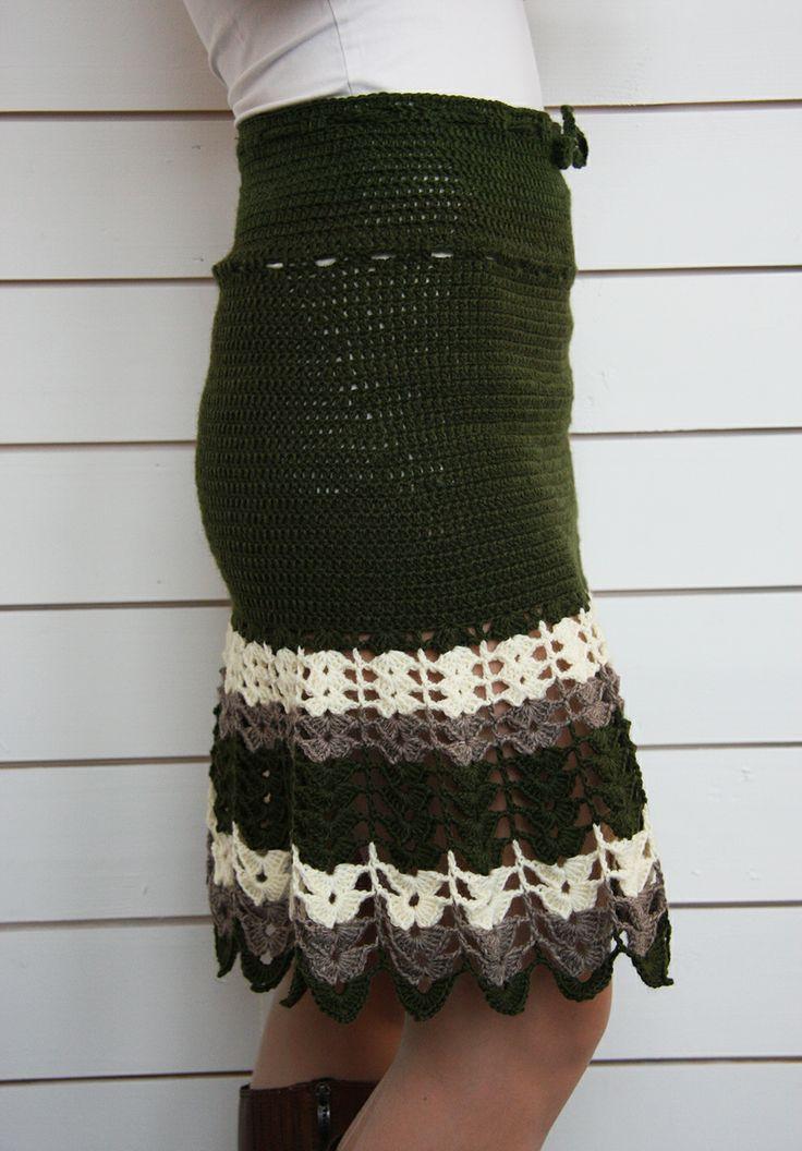 Outlet Cupro Skirt - Fancy Stripes Crochet by VIDA VIDA Buy Cheap 2018 Unisex Free Shipping Cheap Real TBprHFqXHd
