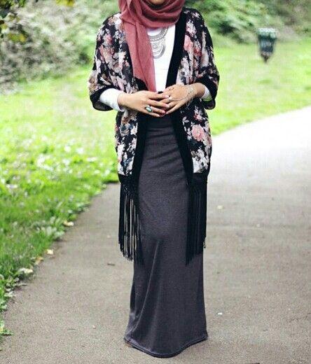 Hijab and kimono Love the kimono