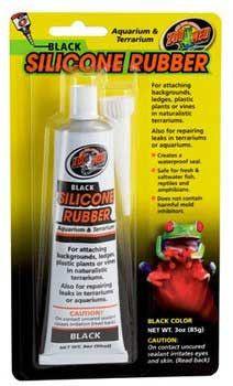 Black Silicone Rubber Dealant 3oz Tube