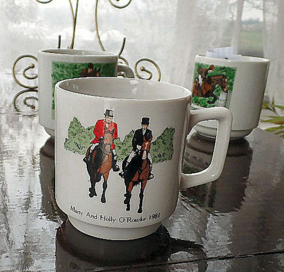Commemorative Steeple Chase Mug Horse Cup by SierrasTreasure